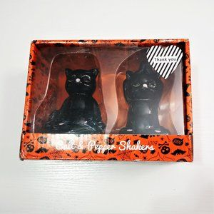 NEW Black Cat Yoga Halloween Salt & Pepper Shakers
